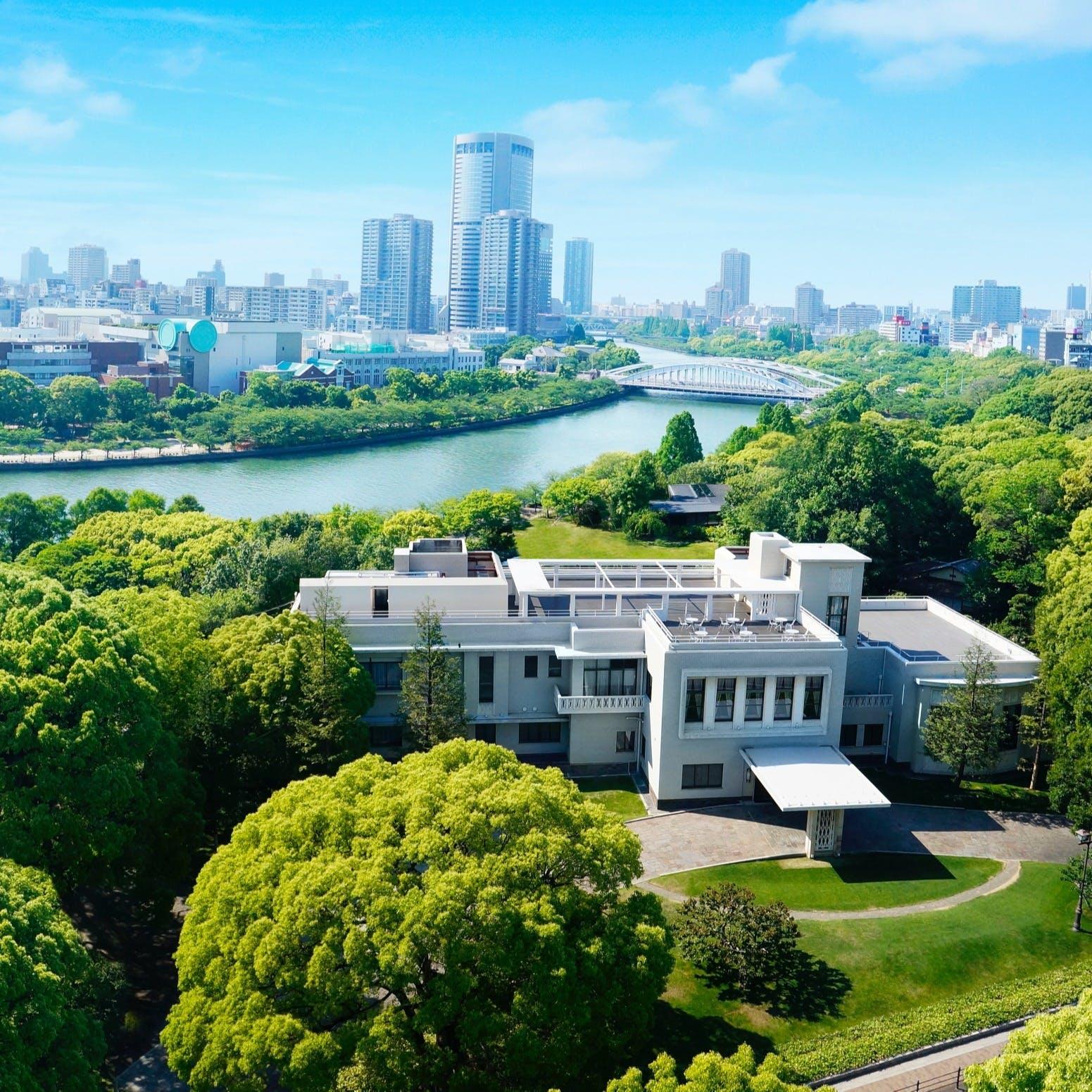 約4000坪の広大な敷地を持つ緑豊かな迎賓館
