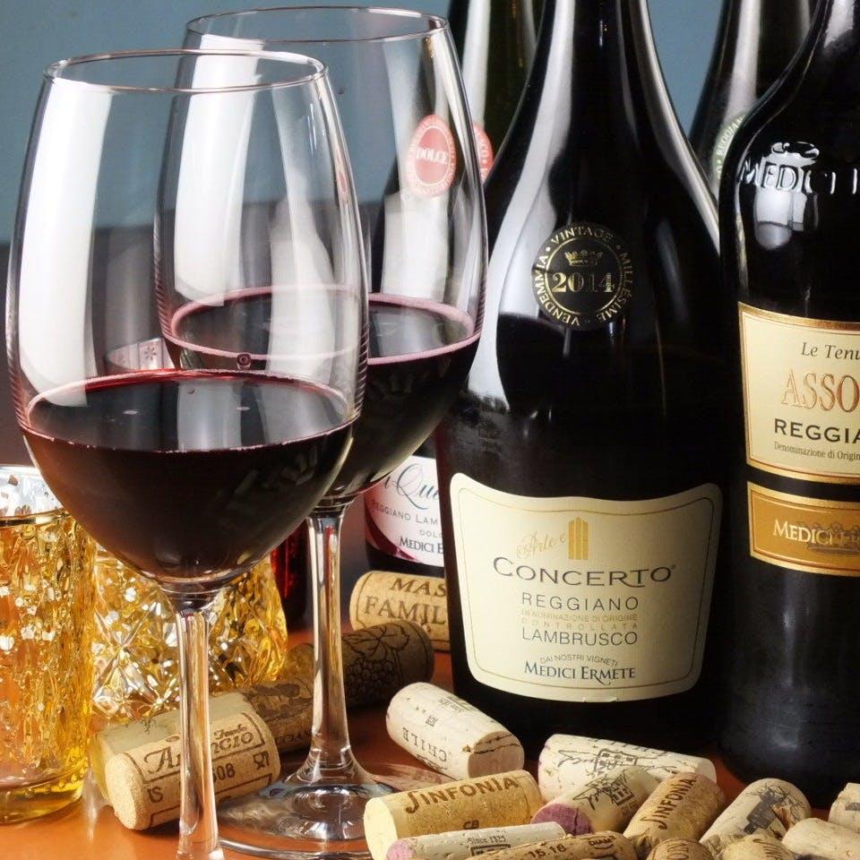 豊富に取りそろえる世界のワイン