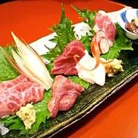 馬肉は熊本、鮮魚は全国より当日空輸しております