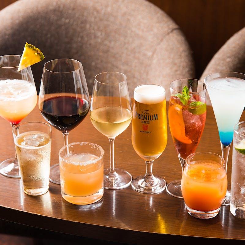 【ナイトアフタヌーンティー】3時間飲み放題!温菜&オードブルスタンド+シャンパンも飲み放題