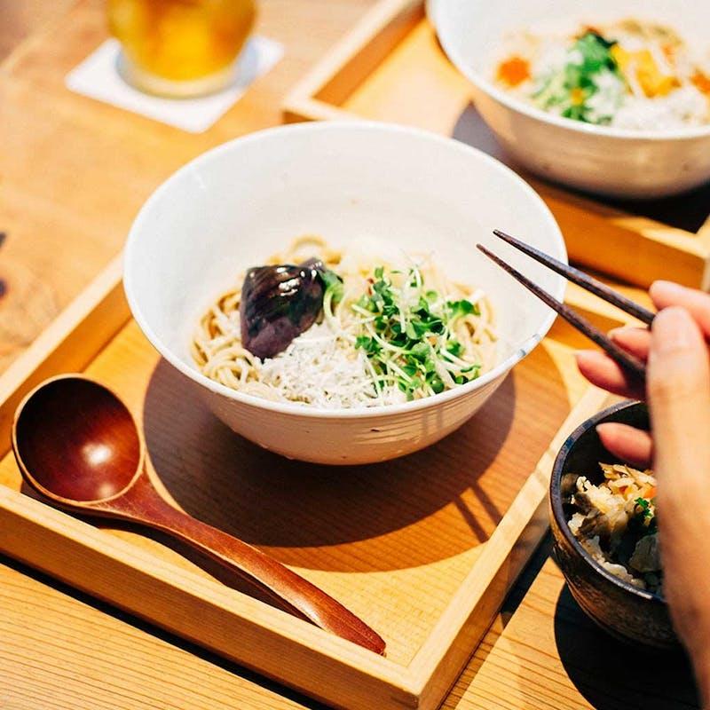【ランチコース】刺身、選べる蕎麦など全5品+選べる1ドリンク(お席のご利用時間は90分のご案内です)
