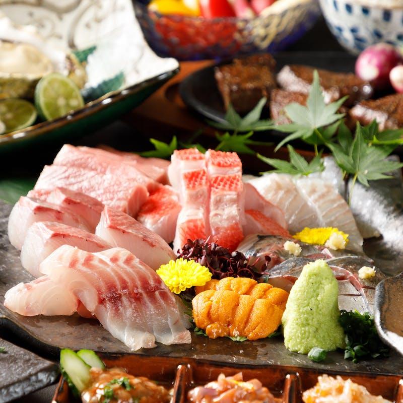 【贅沢コース】前菜、本日の焼き魚or煮魚がメインなど全9品