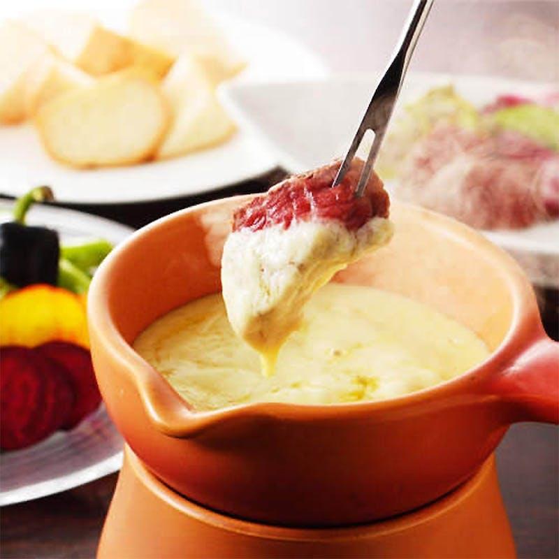 【~ドーピーコース~】和牛ホホ肉のワイン煮込み、チーズフォンデュなど全8品(半個室確約)