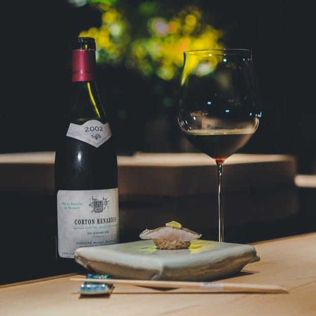 育成寿司と選りすぐりの日本酒、ワインで究極のマリアージュ
