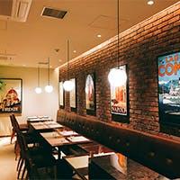 広尾駅4番出口に隣接 レンガの壁があたたかい寛ぎの空間