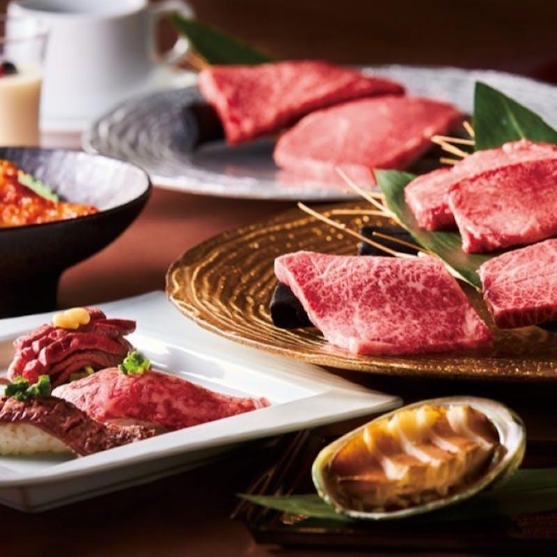 【プレミアムコース】前菜・特選ハラミやロブスター・デザートなど