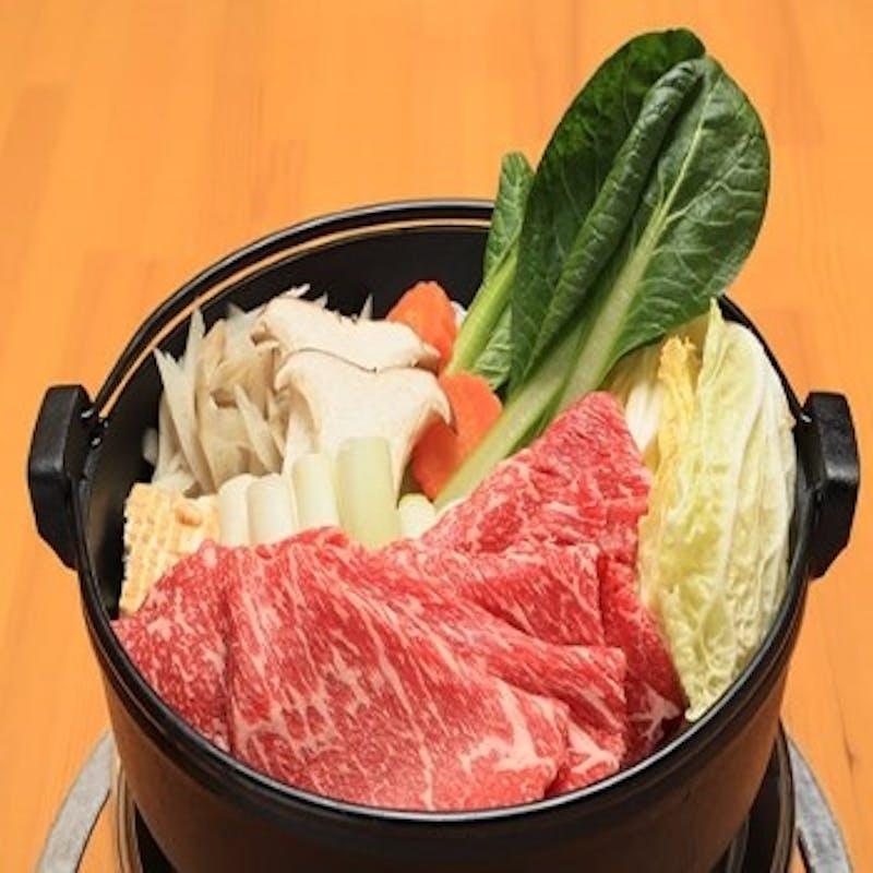【お肉で満足コース 牛すき鍋】口取り、お肉など全5品