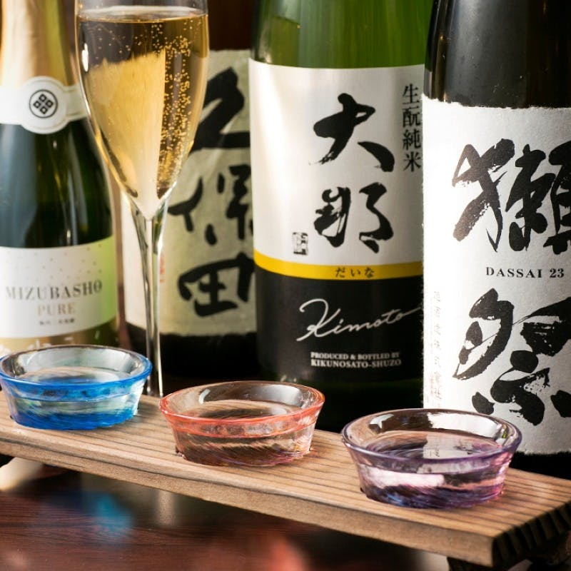 利き酒師が選ぶ日本酒ラインナップ