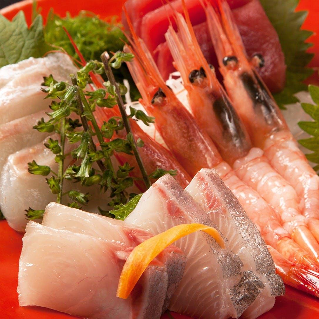 鮮魚のお造りなど
