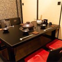プライベート空間で寛げる完全個室も完備