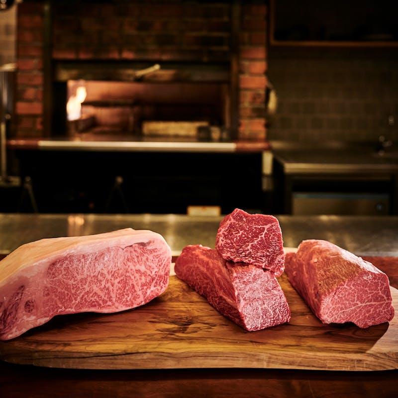 【特選和牛ステーキ食べ比べコース】窯焼きジビエ・窯焼和牛ステーキ食べ比べなど