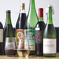 豊富に取りそろえるワインや日本酒