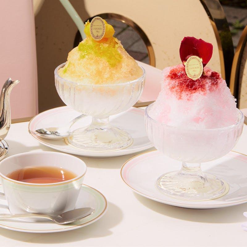 【かき氷ティーセット】(夏季限定)