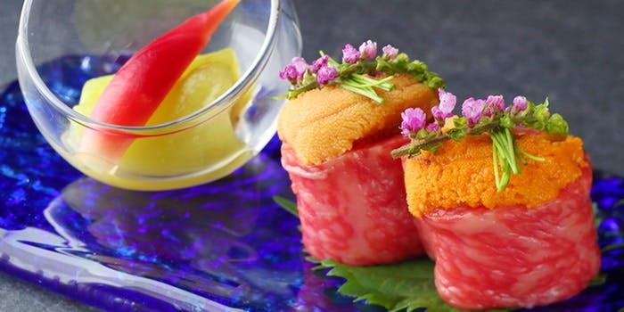 ▲高級食材を多彩に味わう「鉄板焼 たまゆら」