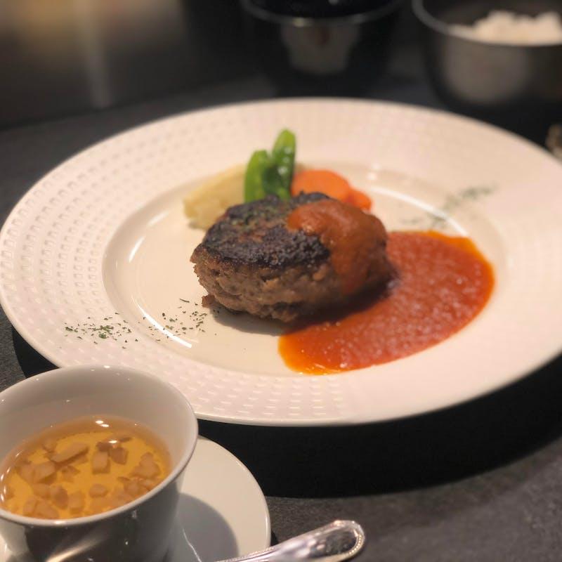 【カジュアルランチ】メインはたまゆらハンバーグステーキ全3品