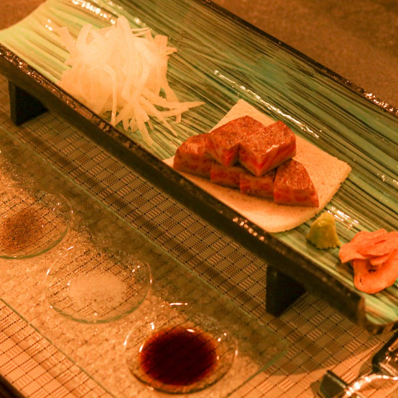 【竜胆~Rindou~コース】魚料理とサーロインステーキの贅沢ランチ全7品+アルコールも選べる1ドリンク付