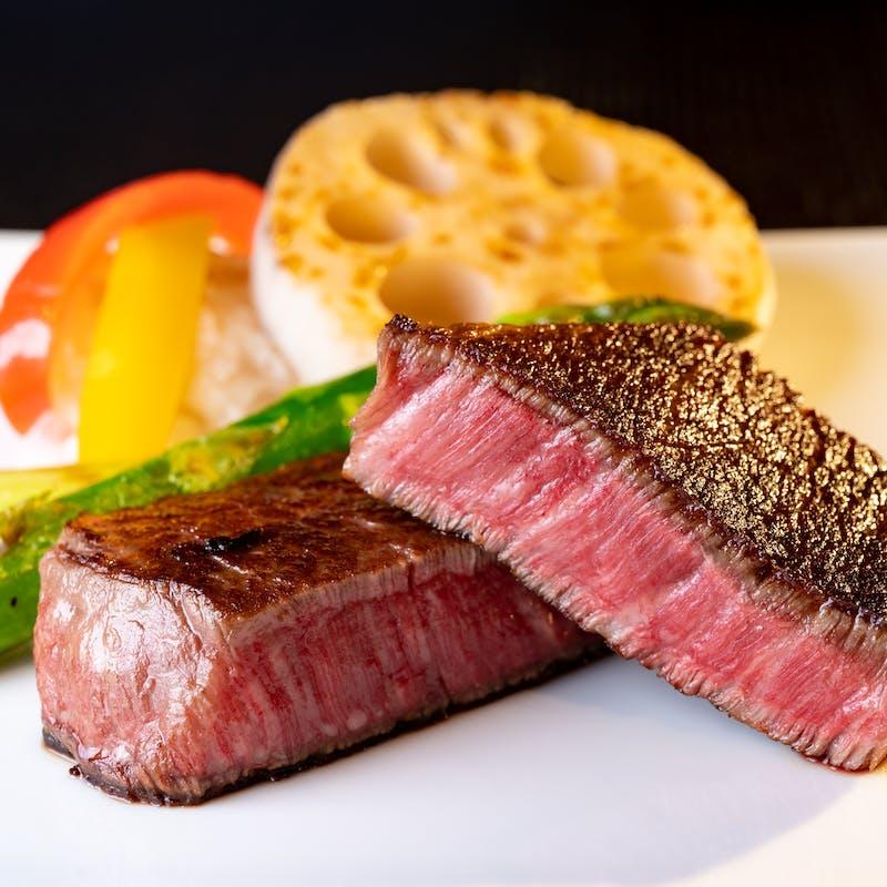 【フィレステーキコース】鮑、伊勢海老、厳選黒毛和牛フィレ等+スパークリング含む1ドリンク