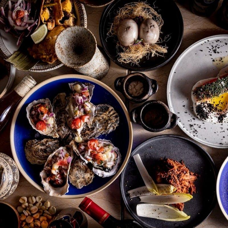 【南米堪能コース】牡蠣、薪焼き和牛など全8品