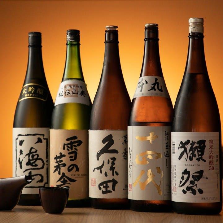 季節に応じて厳選された日本酒