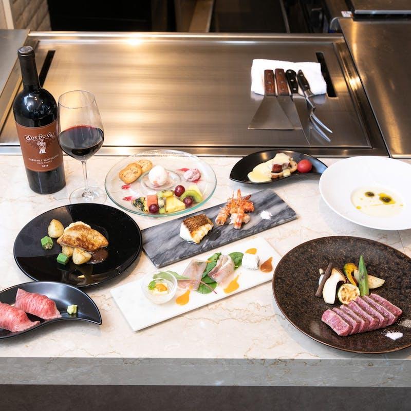 【Xmas2021】大切な方と過ごすXmas限定 プラン+魚介料理とご飯物のセレクト(世界の神戸牛と和牛フィレ)