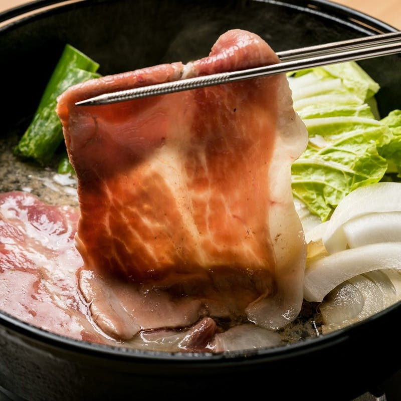 【イブ美豚すき焼き・串カツコース】串カツ3種盛り、すき焼き、〆うどんor中華麺など