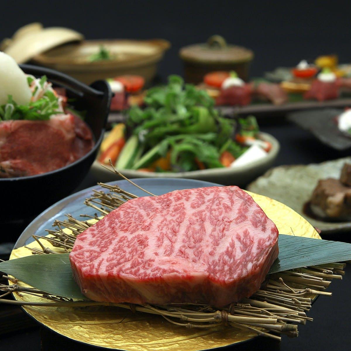近江牛専門店の和食、鉄板料理