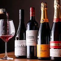 ソムリエ厳選ワインを30種程度ご用意