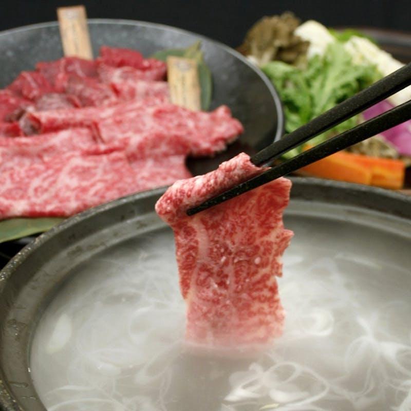 【極上しゃぶしゃぶの肉割烹コース】前菜3種、椀物、牛刺など全8品+70種飲み放題(2名~個室可)