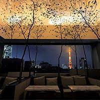 東京タワーを望みながら至福のひと時を