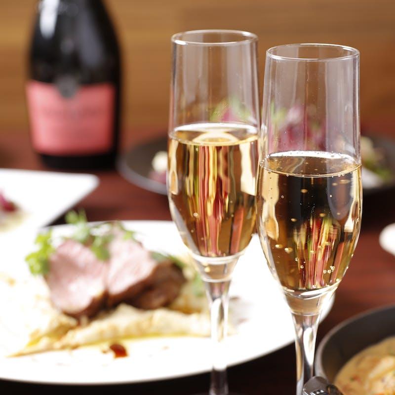 【秋限定収穫祭】ソムリエ厳選乾杯酒&鰹のカルパッチョなど秋の素材を味わう料理5品