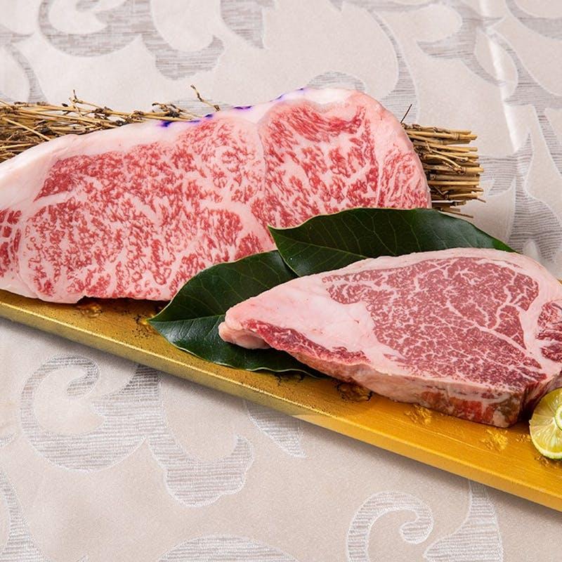【吉祥吉コース 松】神戸牛の極上握り寿司、ステーキ食べ比べ、赤ワイン煮込等全10品+1ドリンク