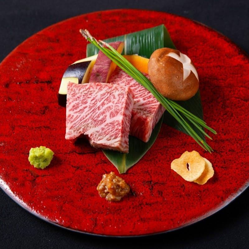 【Bコース】オードブル、神戸牛スープ、デザートなど全5品(プレミアム神戸牛別格赤身120g)