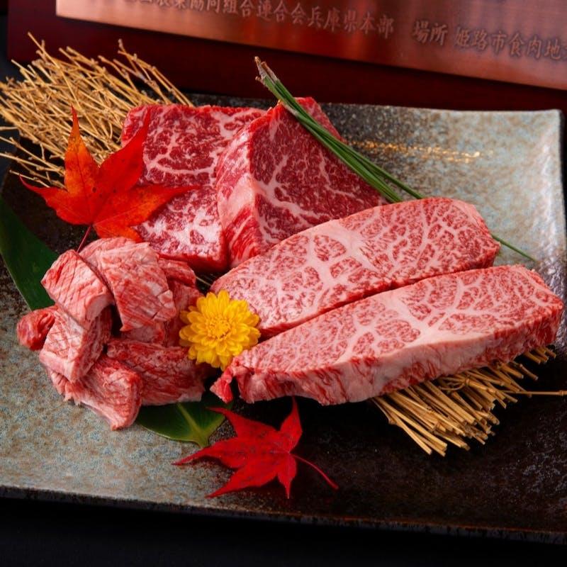【吉祥吉コース 竹】神戸牛の厳選赤身ステーキ、赤ワイン煮込、レアステーキサラダなど全9品