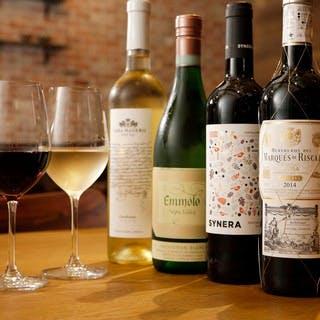 イタリアンワインは赤白合わせて常時40種類をご用意