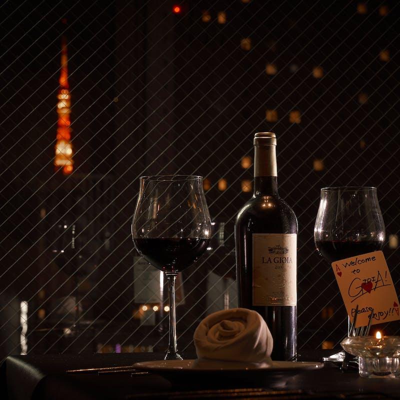 テーブルマジック付「スキャンピコース」全9品(VIP ROOM確約 東京タワー夜景・一日一組限定)