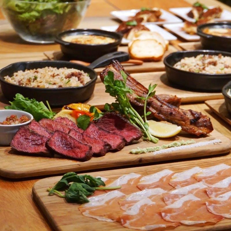 【カジュアルコース】パテドカンパーニュや肉盛合せなど全7品+選べる1ドリンク