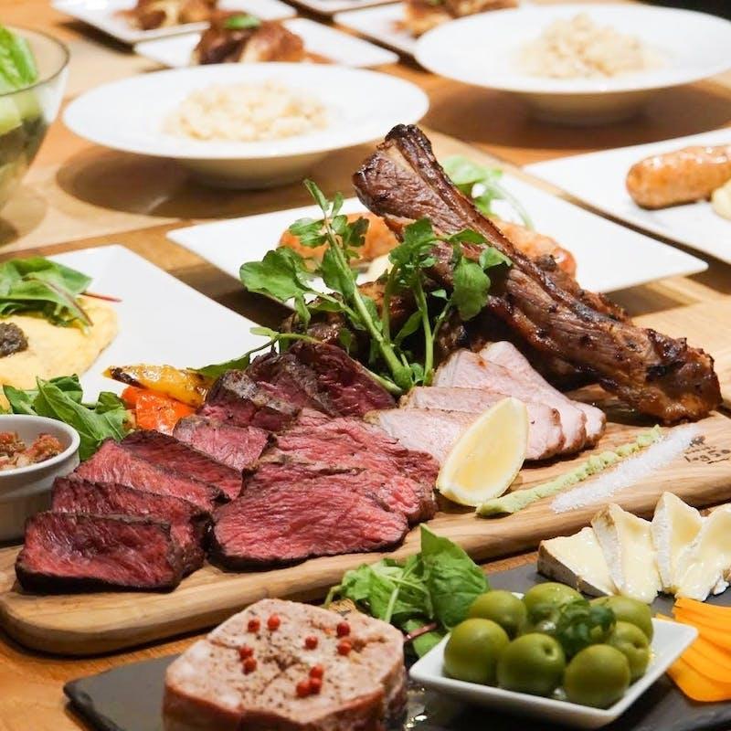 【肉尽くしコース】スプリングラムチョップや肉の4種盛りなど 全8品+2時間飲み放題