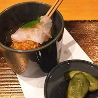 創作海鮮串とお酒のマリアージュ