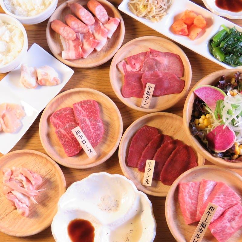 【肉食コース】黒毛和牛赤身2種、牛塩タンなど!1ドリンク付き全15品(月~木限定)