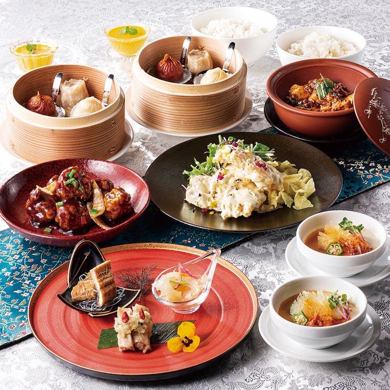 【4500円 點(てん)コース】麻婆豆腐や酢豚など中華の王道を味わえるコース