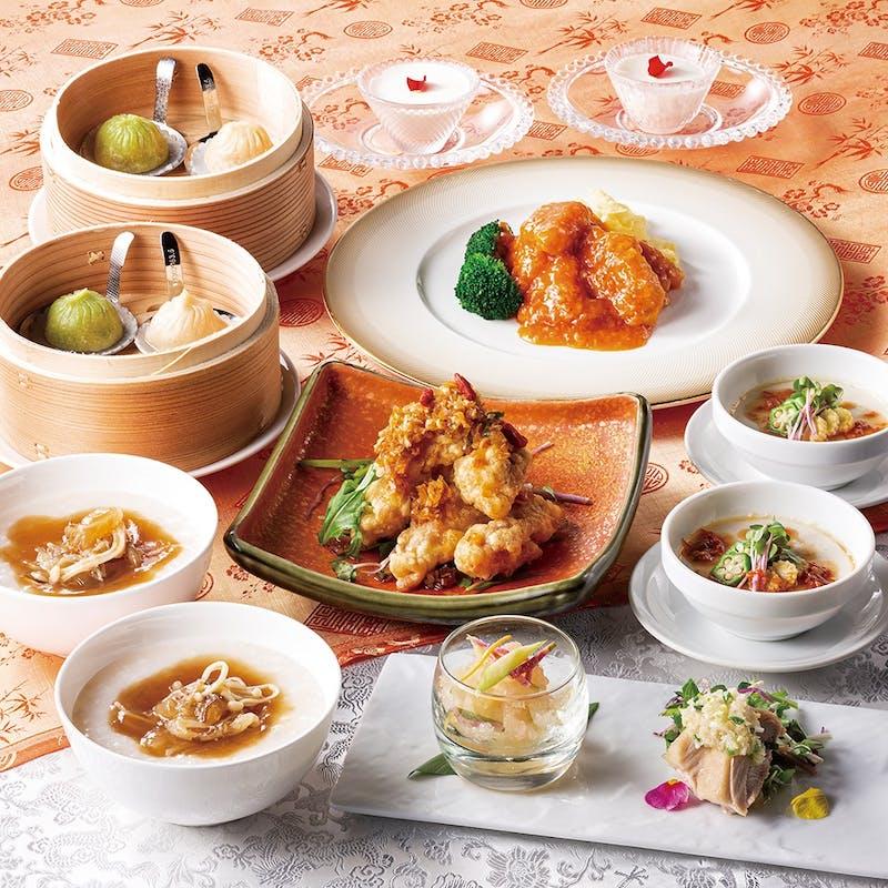 お料理個別盛り【蘭(らん)】気仙沼産吉切鮫尾ビレの姿煮、あわびの煮込みなど全8品