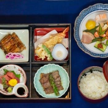【若松おもてなし御膳】うなぎ蒲焼、国産牛サーロインステーキなど全9品(4名~)