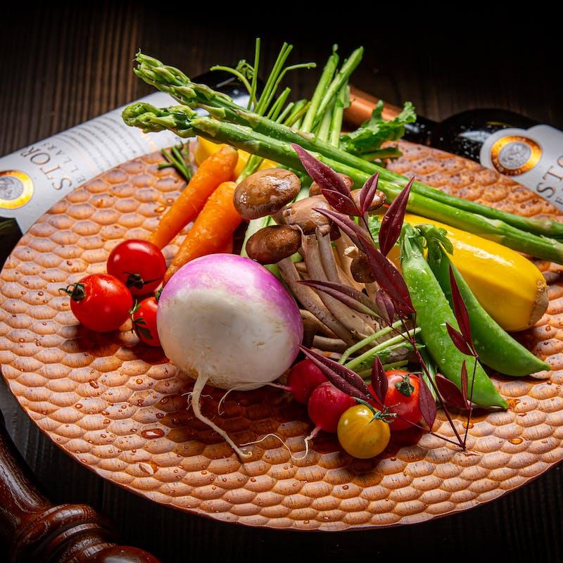 【菫~SUMIRE~】有機野菜を使用したベジタブルコース全4品