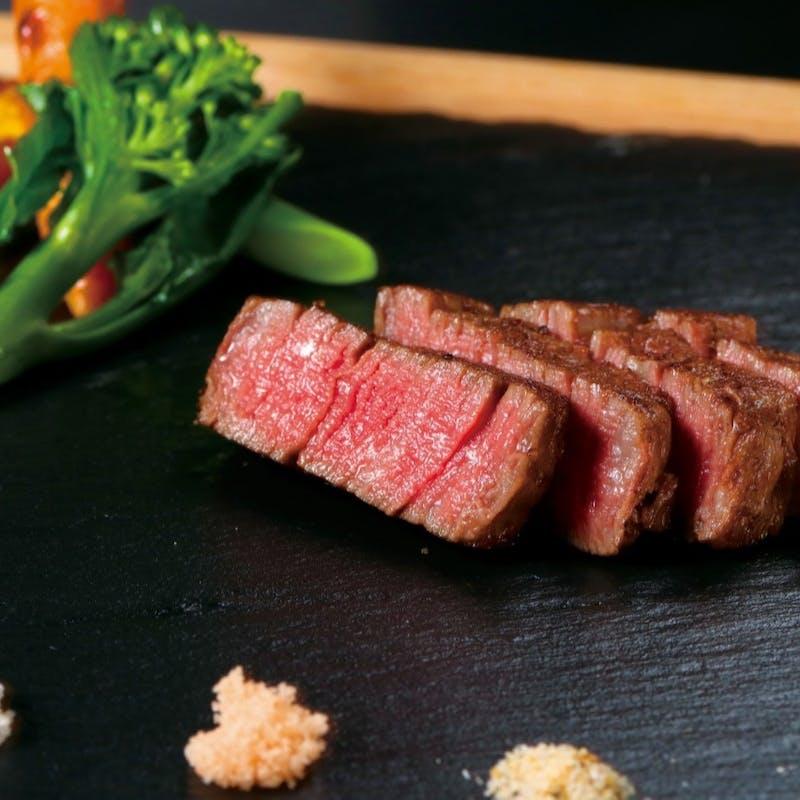 【翡翠~HISUI~】フォアグラのパフェ仕立て、A5黒毛和牛フィレステーキなど全7品+乾杯シャンパン