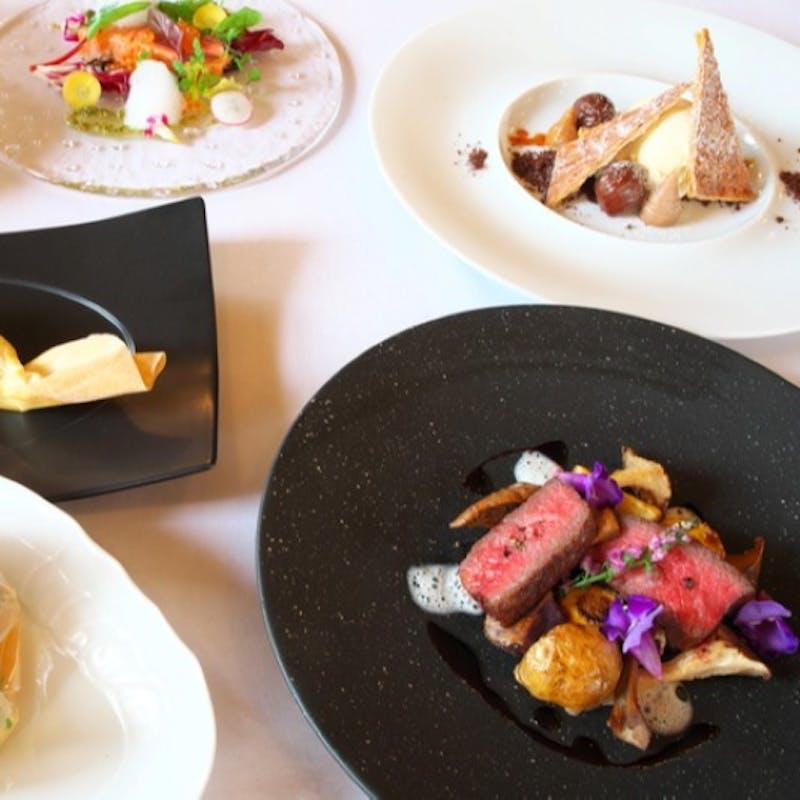 【メインランチコース】前菜、メイン、ドルチェ、カフェ