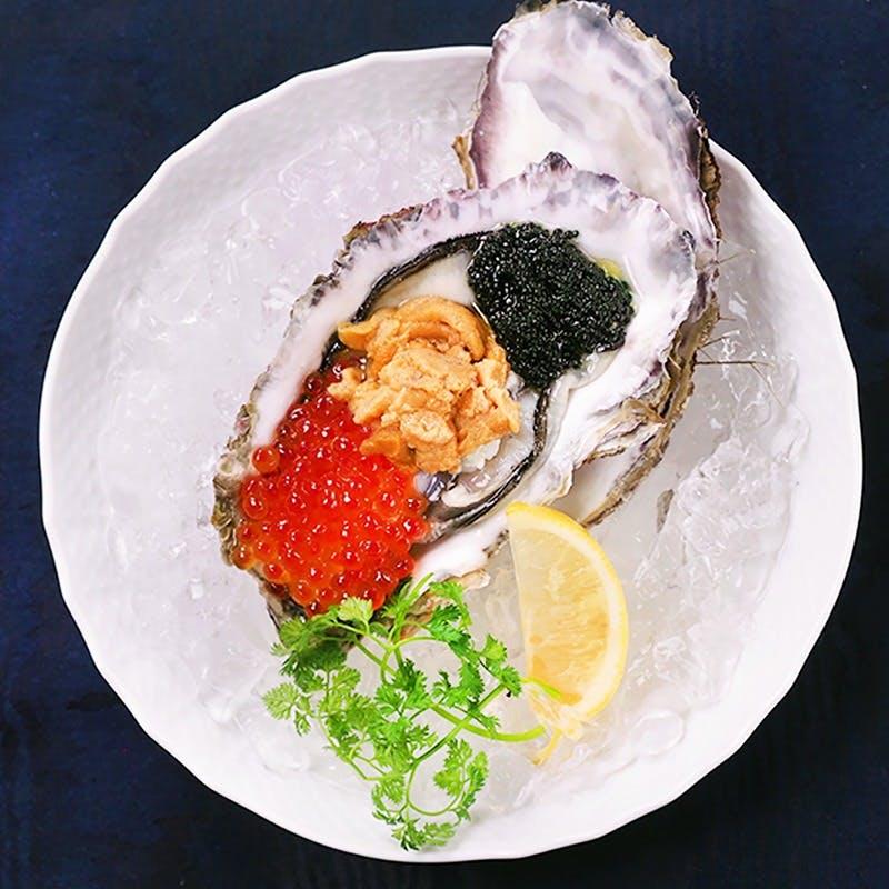 生牡蠣×高級食材