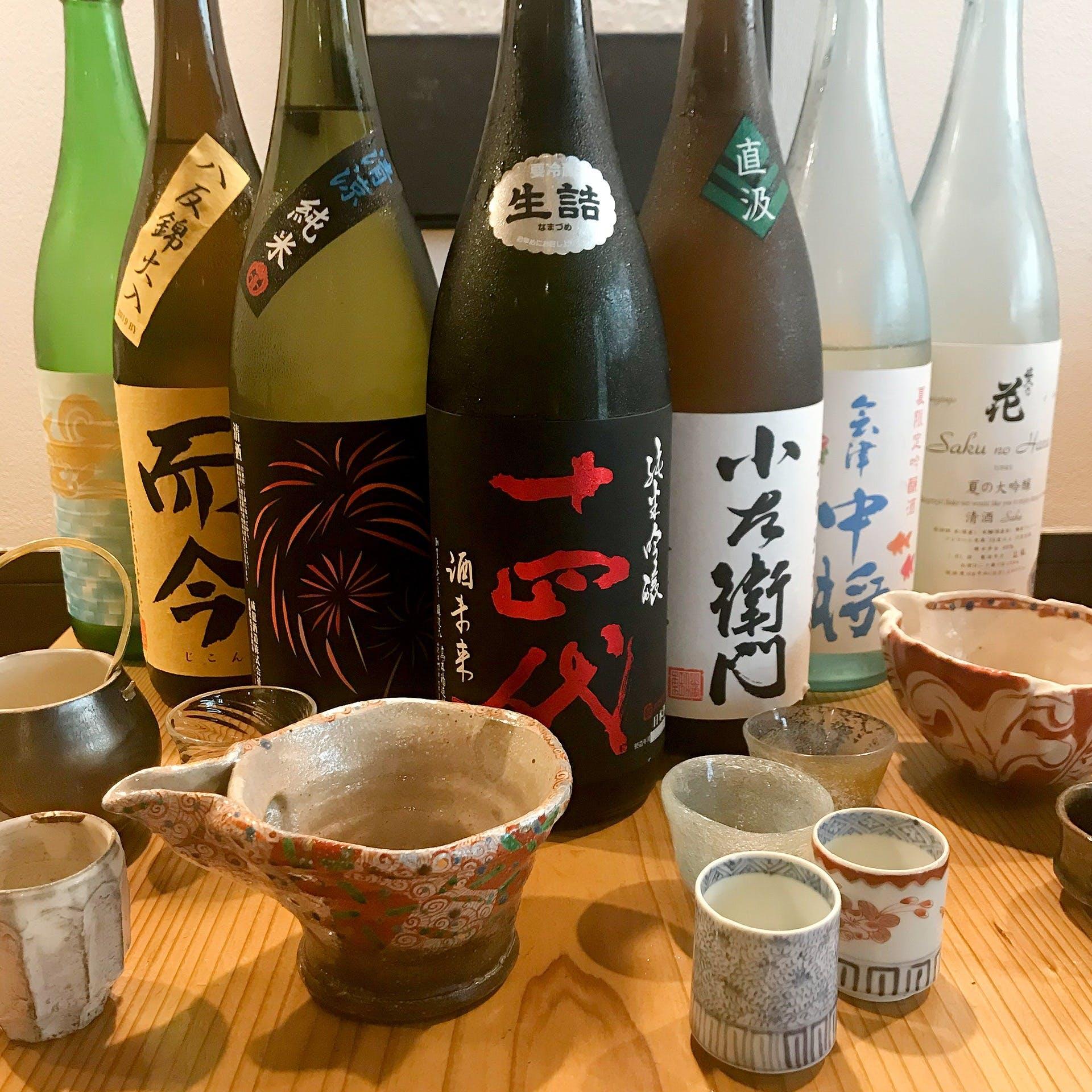 店主選りすぐりの日本酒をご用意