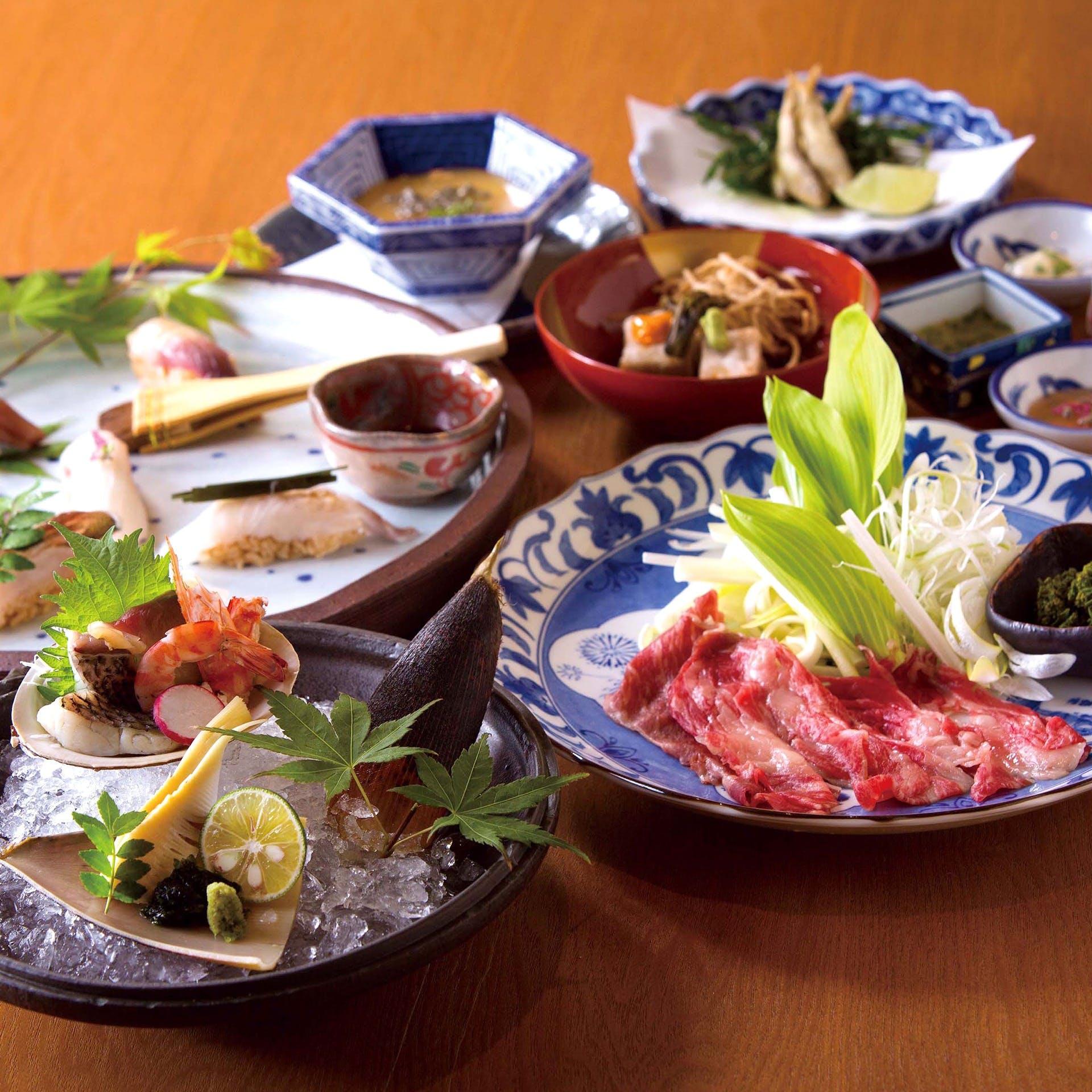 「匠の技で昇華させる」日本料理