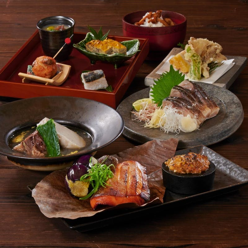 【燦コース】季節味覚を食す全7品+2時間飲み放題