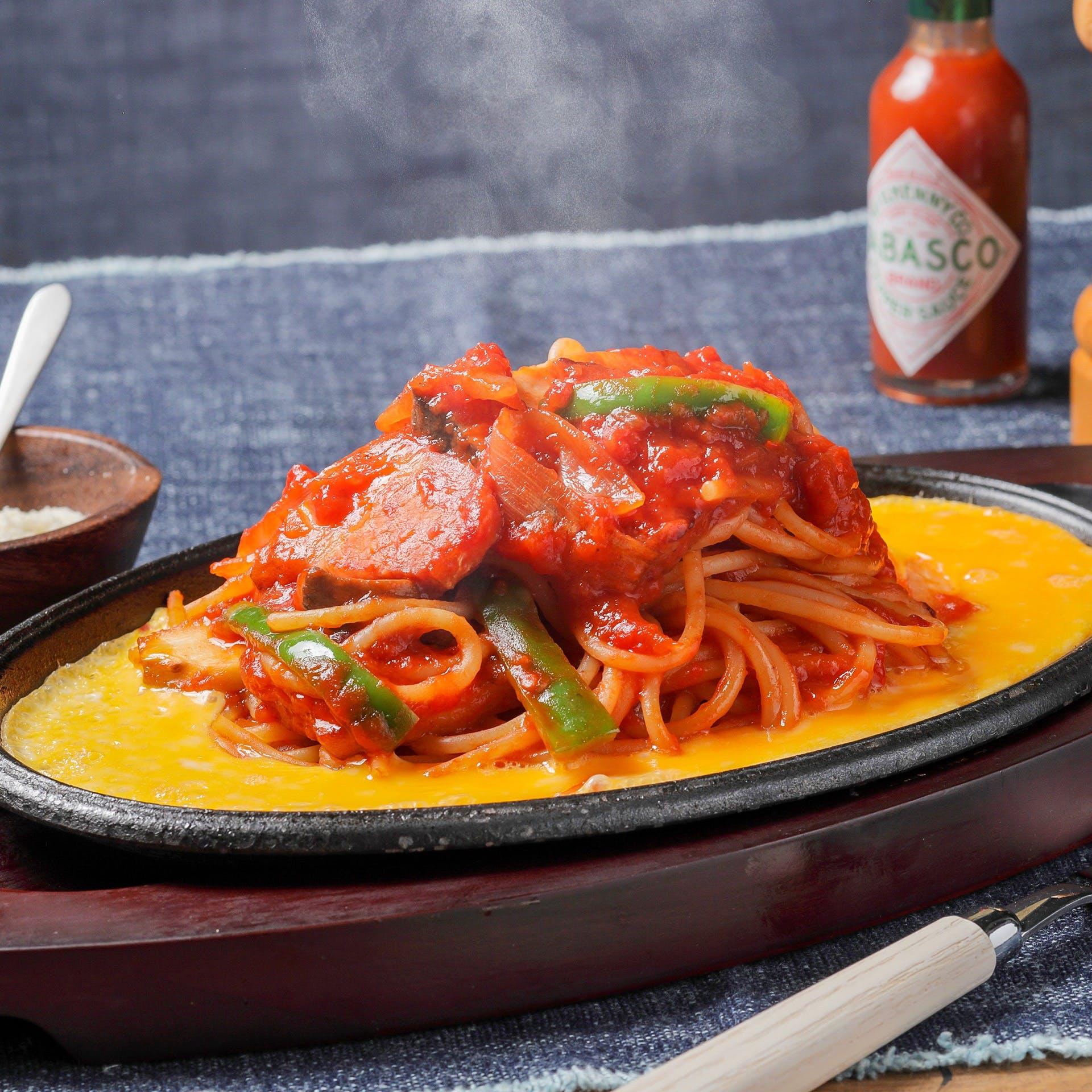 Organic Napolitan spaghetti